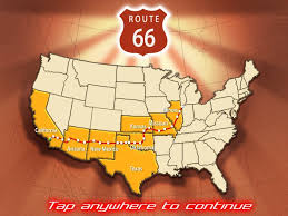 Route 66 Arizona Map by Route 66 Screenshots For Ipad Mobygames