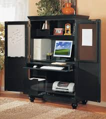 Desk Armoire Home Office Armoire Brown L Shaped Desk With Hutch Plus Drawer