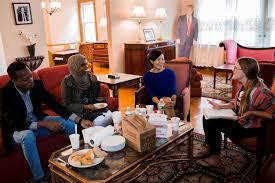 trump u0027s childhood home becomes crash pad for refugees after oxfam