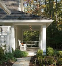 Side Porch Designs by Contemporary Side Porch Exterior Farmhouse With Red Door Panel