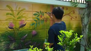 garden wall jungle painting youtube