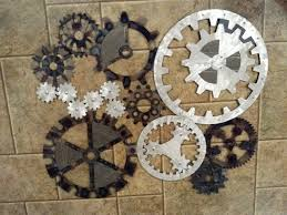 gears art industrial steampunk wall decor made to order 480 00