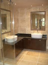 interior contemporary design with oval white soaking bathtub with