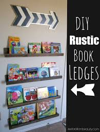 restoration beauty diy rustic book ledges another nursery