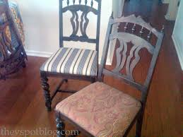 fixer upper update recovering dining room chairs with the ole