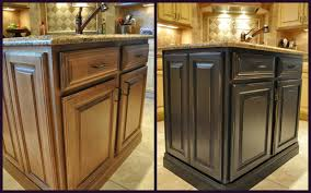 brown painted kitchen cabinets before and after kitchen crafters