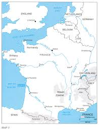 Map Of France And Spain by Hyperwar Riviera To The Rhine
