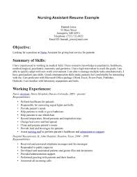 Qualifications Summary Resume Example by Wonderful Looking Resume Cna 6 Certified Nursing Assistant Cna