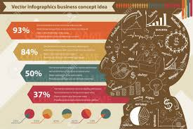 elements of infographics with drawing business strategy plan