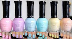 amazon com kleancolor nail lacquers 6 color new pastel