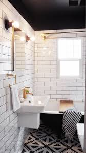 Black And White Bathroom by Bathroom Subway Tile Ideas Amusing Design Ideas Using Silver