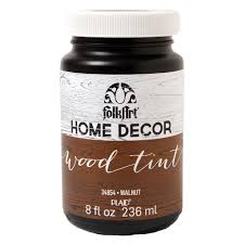 folkart home decor 8 oz walnut wood tint finish 34854 the home