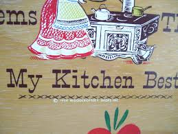 sale 1950 kitchen wood sign round woodcroftery kitschy cute my