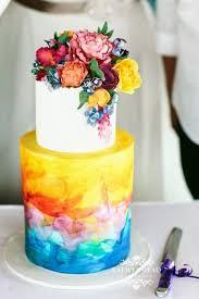 Rainbow Wedding Centerpieces by Best 25 Rainbow Wedding Cakes Ideas On Pinterest Rainbow