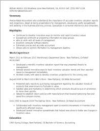 Accounting Resume Examples by Professional Retail Accountant Templates To Showcase Your Talent