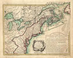 Map Of The New England Colonies by 1755 To 1759 Pennsylvania Maps