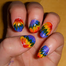 tie dye nail art nail art designs neon tie nail designs tie dye