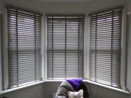 estate grey wood venetian blinds bay window blinds brixton