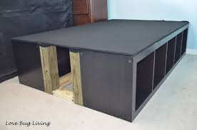 Diy Ikea Bed Love Bug Living Ikea Expedit Hack Platform Bed