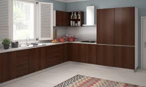 L Shaped Small Kitchen Designs Contemporary L Shaped Kitchen Design Ideas With Brown Wooden