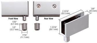 glass door hinges for cabinets c r laurence eh324 crl chrome wide glass door pivot hinge glass