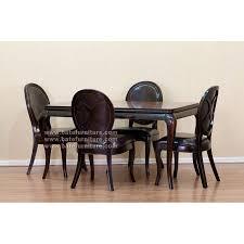black distressed dining set 4 chairs mahogany furniture