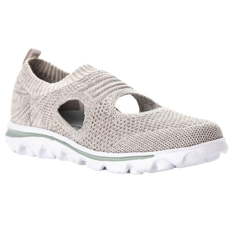 Propet TravelActiv Avid Slip On Knit Sneaker, Adult,