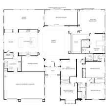 single story custom home floor plans