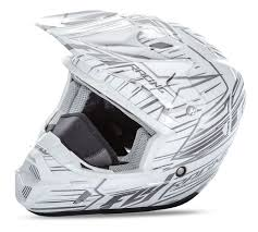 white motocross helmets fly racing kinetic pro cold weather speed helmet revzilla