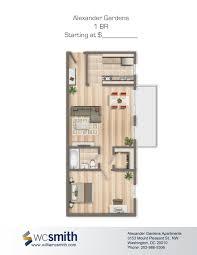 Single Bedroom Apartment Floor Plans by One Bedroom Apt Washington Dc The Shaythe Shay Luxury Studio 1 2