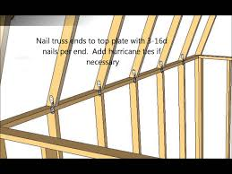 Gambrel Roof Shed Roof Gambrel Style Youtube