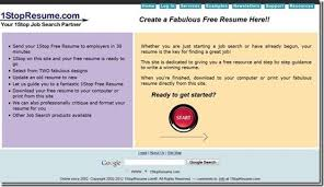 Create Online Resume For Free by 5 Free Online Resume Builder