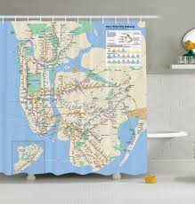 Subway Nyc Map by New York City Subway Map Nyc Shower Curtain Fabric Transit