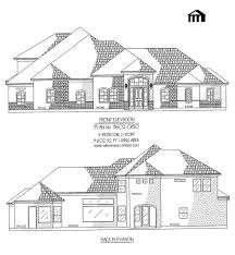 Simple 4 Bedroom House Plans by 2 Story 4 Bedroom House Plans