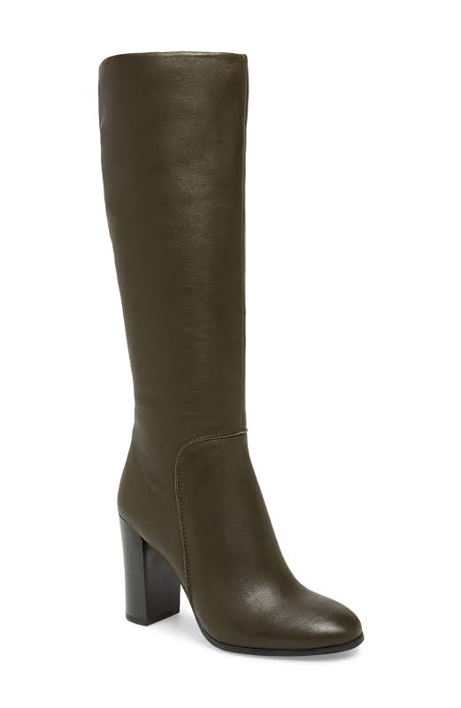 Kenneth Cole New York Justin Leather Round Toe Over Knee, Fern,