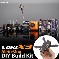 storm racing drone diy kit loki x3 helipal