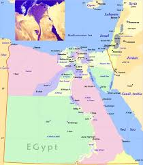 Egypt On A World Map by Political Map Of Egypt