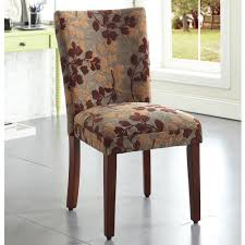 Overstock Dining Room Chairs by This Contemporary Fabric Dining Chair Complements Wood Dining