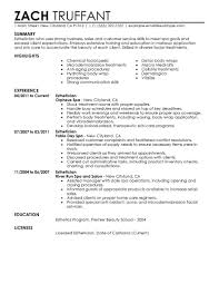 resume summary examples for students sample resume for esthetician student resume for your job esthetician advice