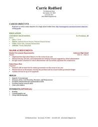 Student Resume Examples First Job by Resume Example For No Work Experience Templates