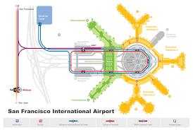 San Francisco Bart Map San Francisco Airport Map