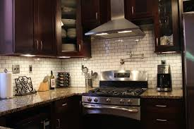 Glass Kitchen Tile Backsplash Ideas Kitchen Kitchen Backsplashes For Dark Cabinets Home Design And