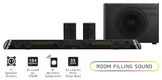 7 1 home theater system shockwafe pro 45 inch sound bar by nakamichi hardware pro