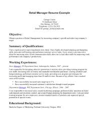 job objective sample resume cover letter resume examples for retail sales examples of resume cover letter career objective examples s associate supervisor job resume for retail is foxy ideas which