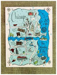 Map Card Austin by New York City Map Art Print City Maps Travel Illustration And