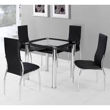 Square Dining Tables For  Glacier Square  Post Dining Table - Black dining table for 4