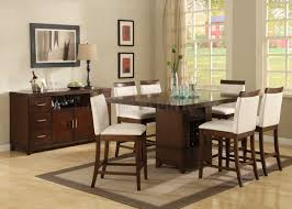Counter Height Dining Room Tables by Brown Cherry Finish Classic Pedestal Counter Height Dining Table