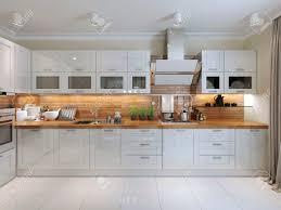 contemporary kitchen design 3d render stock photo picture and contemporary kitchen design 3d render stock photo 47271413