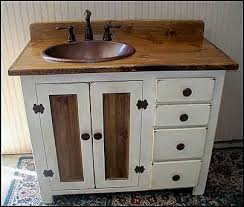 Bathroom Vanities 42 Inch by Rustic Farmhouse Vanity Copper Sink 42 Bathroom