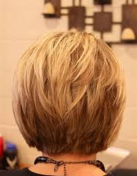short hairstyles showing front and back short layered bob